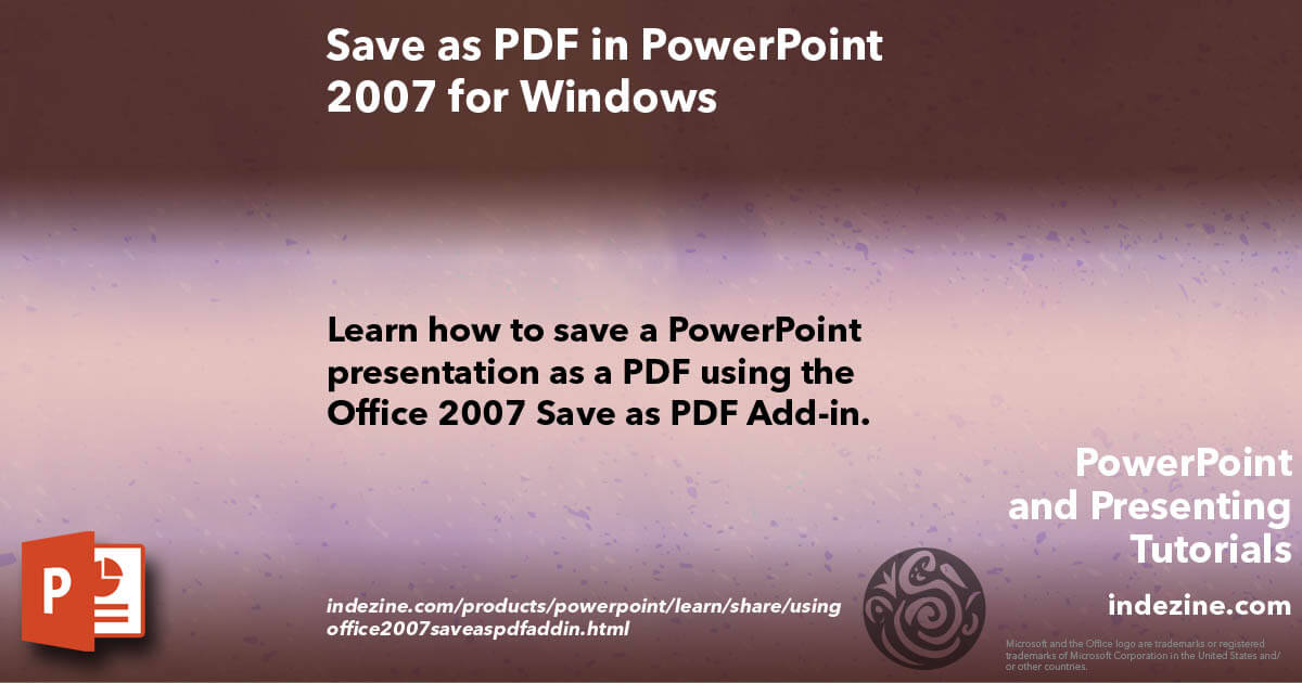 how to save pdf from office 2007