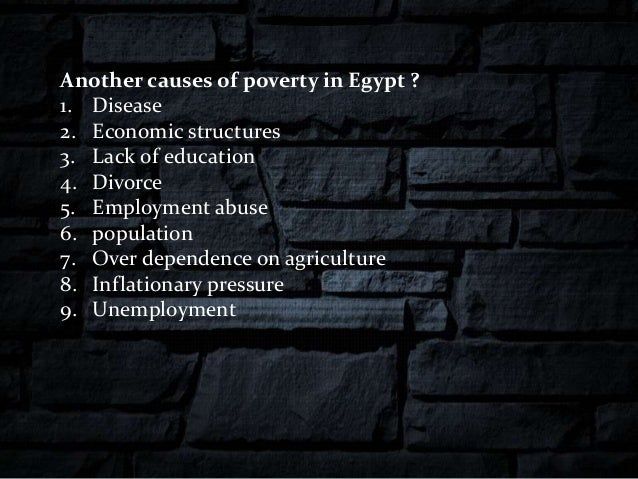 causes of poverty in egypt pdf