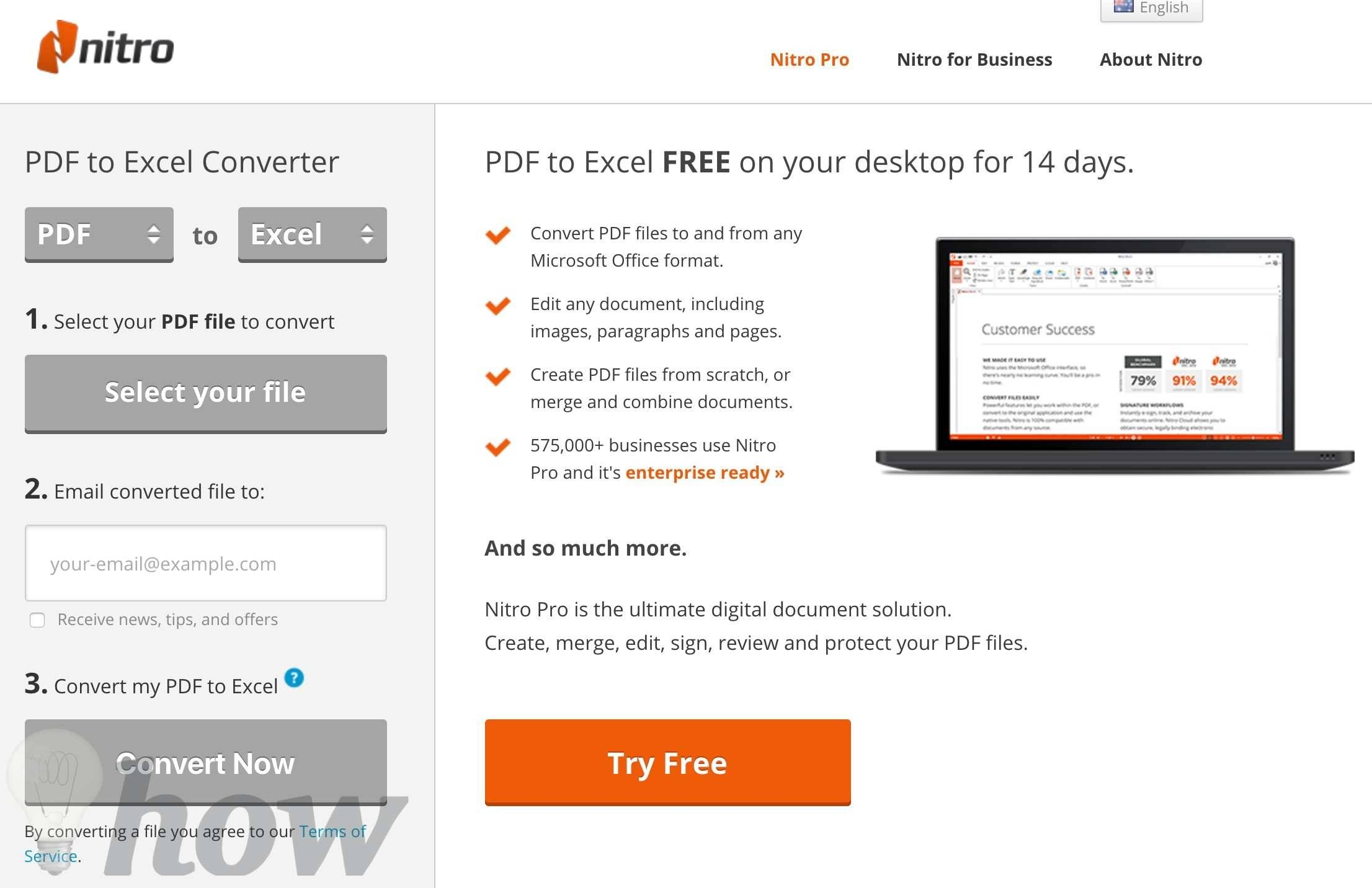 how can i convert a pdf to excel