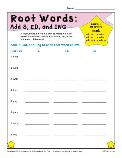 adjectives ending in ed and ing worksheets pdf