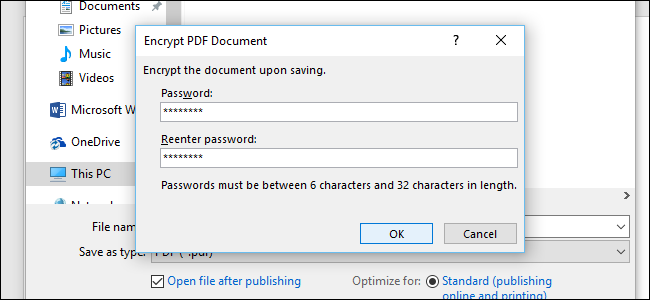 pdf is protected with open password